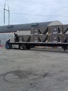New HVAC Roof Top Units arrive on site