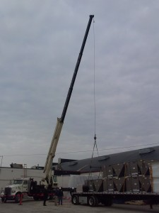 New Commercial Roof Top Units being lifted on to the roof