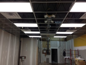 Interior Progress on the Commercial HVAC