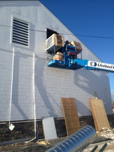 Commercial HVAC Equipment installation