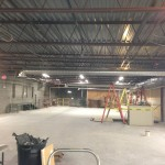 Commercial HVAC interior progress.