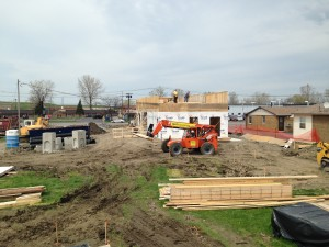 Construction is underway on 68th Street for the new KFC.