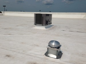 New Roof Top Unit and Exhaust Fan.