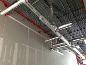 Interior HVAC build-out includes Insulated Duct and Diffuser System