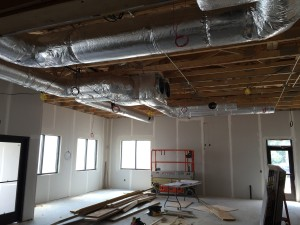 Progress on interior duct work