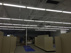 Work progress on HVAC equipment for Harbor Freight Tools in Dunkirk, NY
