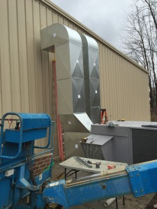 HVAC equipment progress outdoor view 1.
