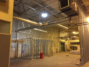 Commercial HVAC Duct installation at Custom Courier in Rochester, NY view 1.