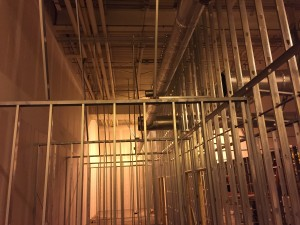 Commercial HVAC Duct installation at Custom Courier in Rochester, NY view 2