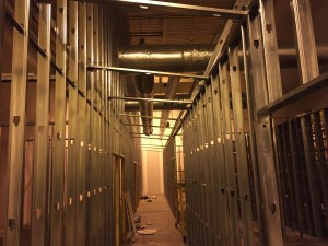 Commercial HVAC Duct installation at Custom Courier in Rochester, NY view 3