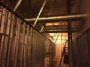 Commercial HVAC Duct installation at Custom Courier in Rochester, NY view 4
