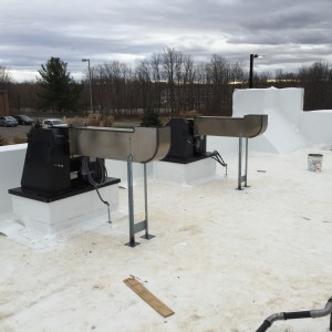 Roof Top progress at Burger King in Farmington on Dec 21, 2015