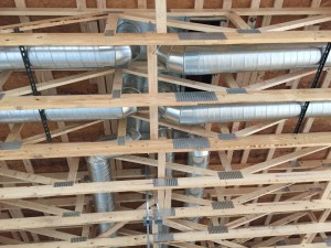New Duct Installation, indoor view 1, at new Burger King in Farmington, NY
