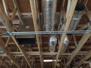 New HVAC duct installation, view 3, at new Burger King in Farmington, NY.