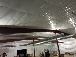 Retail Space HVAC Duct Installation. Family Dollar progress view 1