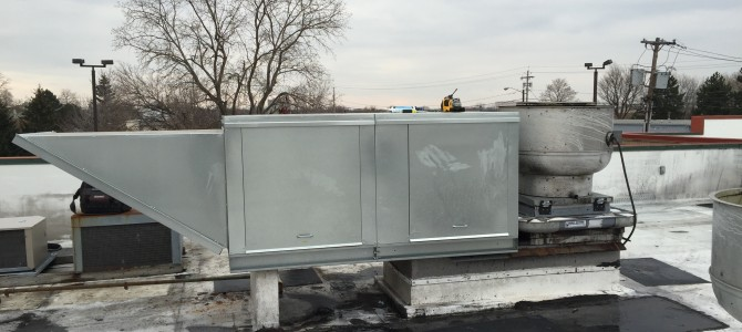 Commercial Make-Up Air unit at Applebees – Irondiquoit, NY