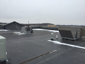 New roof top unit ready for start up.
