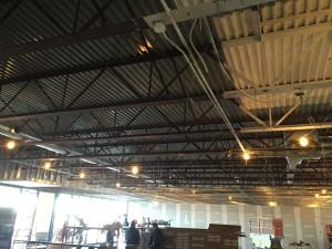 New duct work - interior progress