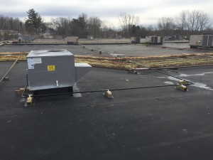 View from the roof.  Professional RTU Installation