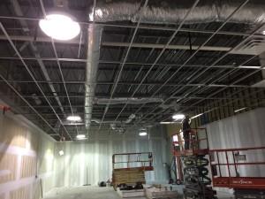 New duct installation progress.