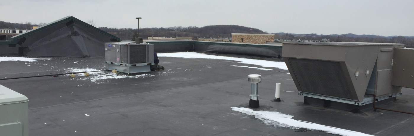 Carrier RTU Installation at Finger Lakes Plaza, Auburn NY